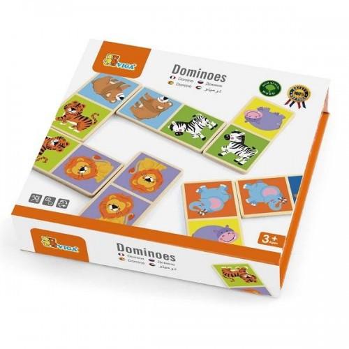 Домино Сафари настольная игра Viga Toys (51307)