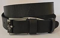 Кожаный мужской ремень U.S.POLO|черный