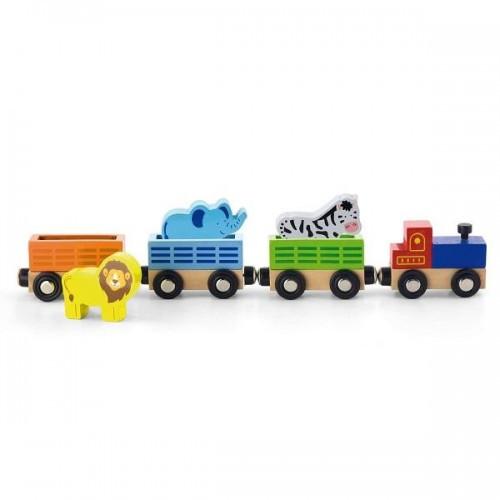 Поезд с животными, аксессуары к железной дороге Viga Toys (50822)