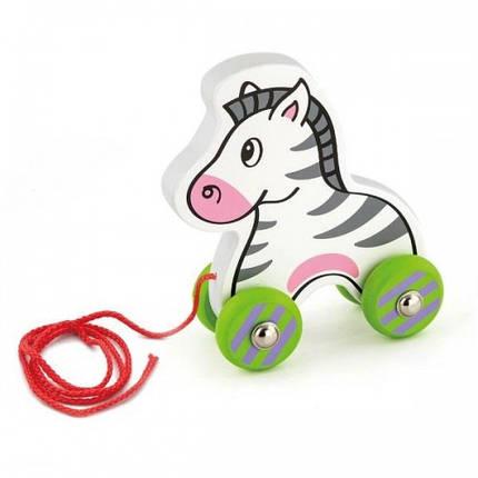 Зебра деревянная игрушка-каталка Viga Toys (50093), фото 2