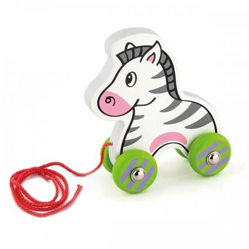 Зебра деревянная игрушка-каталка Viga Toys (50093)
