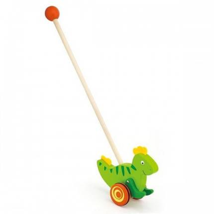 Динозавр деревянная игрушка-каталка Viga Toys (50963), фото 2