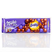 Шоколад Milka Bubbly Caramel пористый молочный с карамелью 250 г
