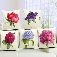Розовыми цветами хлопка белье бросок наволочка диван-кровать автомобиль Чехлы домашнего декора