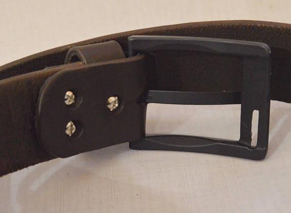 Кожаный мужской ремень 17коричневый, фото 2