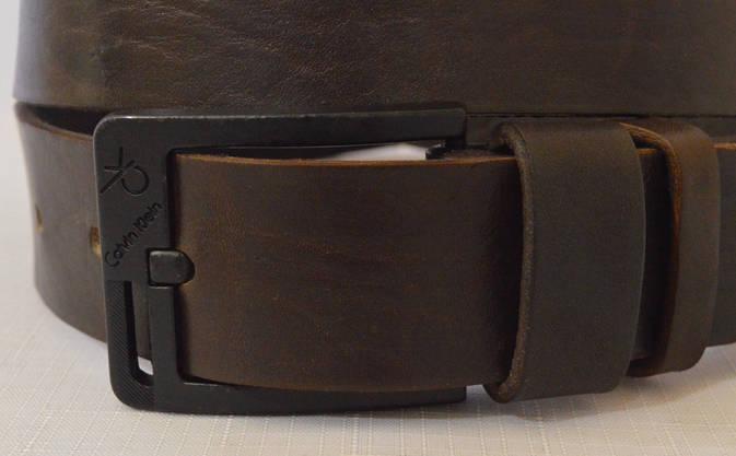 Кожаный мужской ремень 17коричневый, фото 3