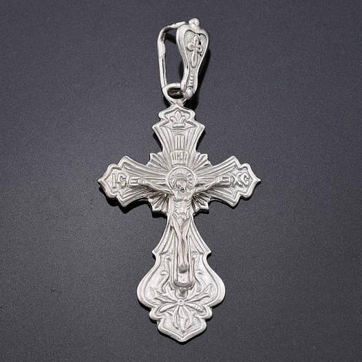 Серебряный крестик 3052Р/1, деформировано ушко, размер 42*22 мм, вес 4.1 г