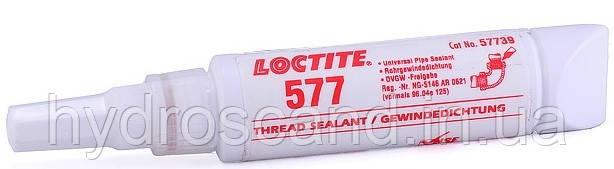 Герметик резьбовых и трубных соединений Loctite 577 (Локтайт 577), для грубой резьбы до 3', 150 °C, 50 мл