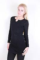 Черная женская туника с карманами
