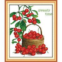 """Набор для вышивания крестиком  """"Сладкие ягоды"""", в пак.40*47см,"""