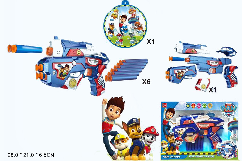 Пистолет с поролоновыми снарядами SB372 Щенячий патруль