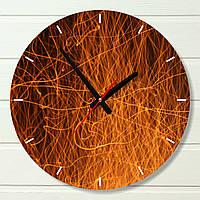 "Настенные часы  - ""Искры"" (на пластике)"