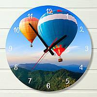 """Настенные часы  - """"Воздушный шар"""" (на пластике)"""