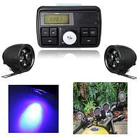 Мотоцикл Водонепроницаемы USB SD Audio FM MP3 Stereo Усилитель Сигнализация Череп Динамик