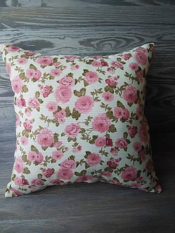 Подушка диванная клевер розовый,  35 см * 35 см, фото 2