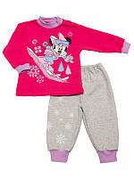 Комплект пижама ясельный для девочки с начесом унисекс Новогодний