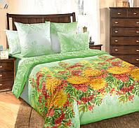 Полуторное постельное белье с простыней на резинке 90/200/25, Солнечное утро, перкаль 100%хлопок