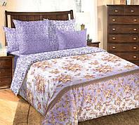 Полуторное постельное белье с простыней на резинке 90/200/25, Мадлена, перкаль 100%хлопок