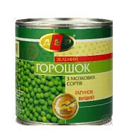 """Горошок зелений консервований 410г ж/б """"ASP"""" (1/12)***"""