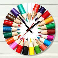 """Настенные часы  - """"Карандаши"""" (на пластике)"""