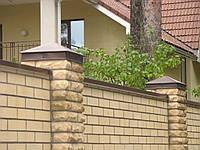 КОЛПАКИ 380х380 на кирпичные столбы, КРЫШКИ на забор, колпаки на забор