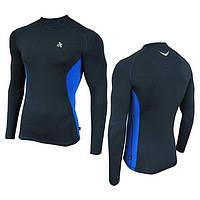 Компрессионная мужская спортивная кофта Radical Fury Duo LS Синий с голубым XL