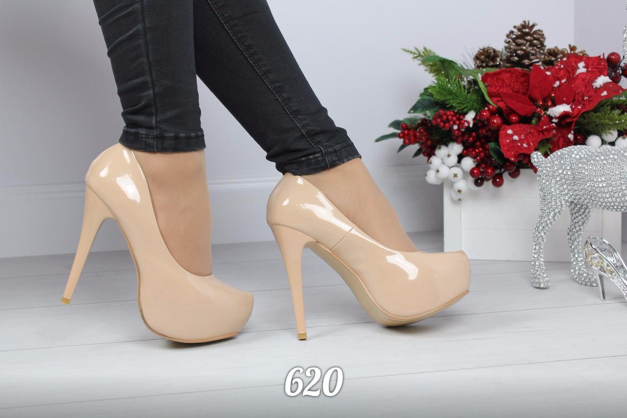 a2f19b10cfdf Бежевые туфли на высоких каблуках - Интернет-магазин WeQ.com.ua в Харькове