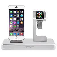 Archeer 3 в 1 МФО сертифицированных зарядки док стоять держатель электростанция для Apple Наблюдать IPhone IPad