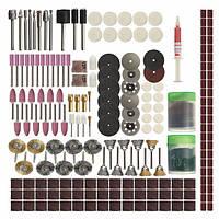 217шт Rotary Инструмент Комплектующие для аксессуаров Электрические шлифовальные станки Аксессуары для шлифования шлифовальной полировки