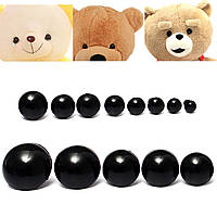154pcs 6 до 24 мм дети ребенок из черного пластика глаза безопасности передних фар плюшевый мишка кукла животных DIY игрушки случай