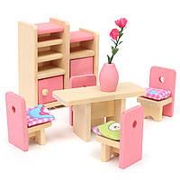 Деревянные Кукла Набор Детские игрушки Миниатюрные дома Семейная мебель Набор Аксессуары
