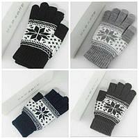Перчатки для сенсорных дисплеев с узором Touch Gloves