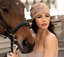 Женская шерстяная шапка со стразами Swarovski Marlena от Willi Польша, фото 2