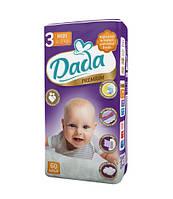 Подгузники Dada Premium 3 midi (4-9 кг) 60шт (фиолетовая упаковка)