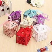 10шт Пирсинг Birdcage конфеты Сладкий пакет подарок Коробка Свадебное Торт Торт Шоколад Коробка