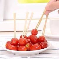 100шт бамбук фрукты растительная пища вилки барбекю шведский стол свадьба палки