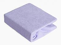Простынь Twins махровая на резинке 120х60 см 03 фиолетовая
