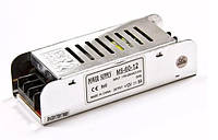 Блок питания 60W 12V для LED ленты 5A MS-60-12 узкий