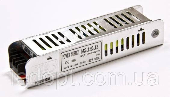 Блок питания 120W 12V для LED ленты 10А MS-120-12