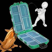 Решать дело коробки для хранения Fly Fishing Lure приманку 10/12 отсеков зеленый синий