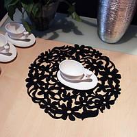 Войлок Круглый Кружева цветок Placemat обеденный стол Мат Теплоизоляция Pad Многофункциональные кухонные инструменты