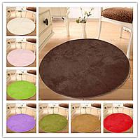 100x100 чистый цвет мягкой круглой коврик лохматый Порог этаж плюшевый ковер Антипробуксовочная ванны коврик