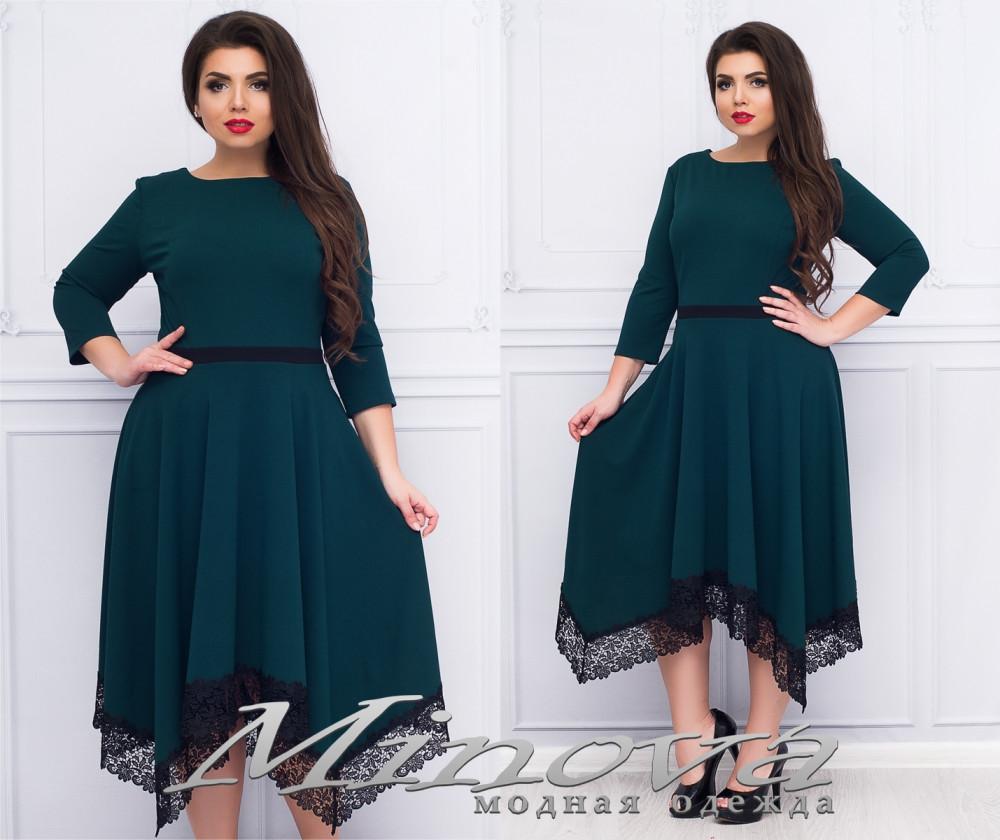 Платье со свободной юбкой 50-56