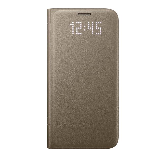 Чехол Samsung Galaxy S7 LED View Cover Gold EF-NG930PFEGRU
