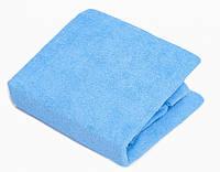 Простынь Twins махровая на резинке 120х60 см 09 синяя