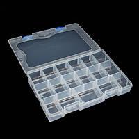 17 Отсек съемный рыболовные снасти ящик прозрачный пластик рыбалка окно 27.5 * 18.5 * 4.5cm