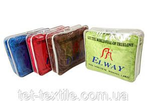 Плед акриловый с тиснением Elway оливковый (160х210), фото 2
