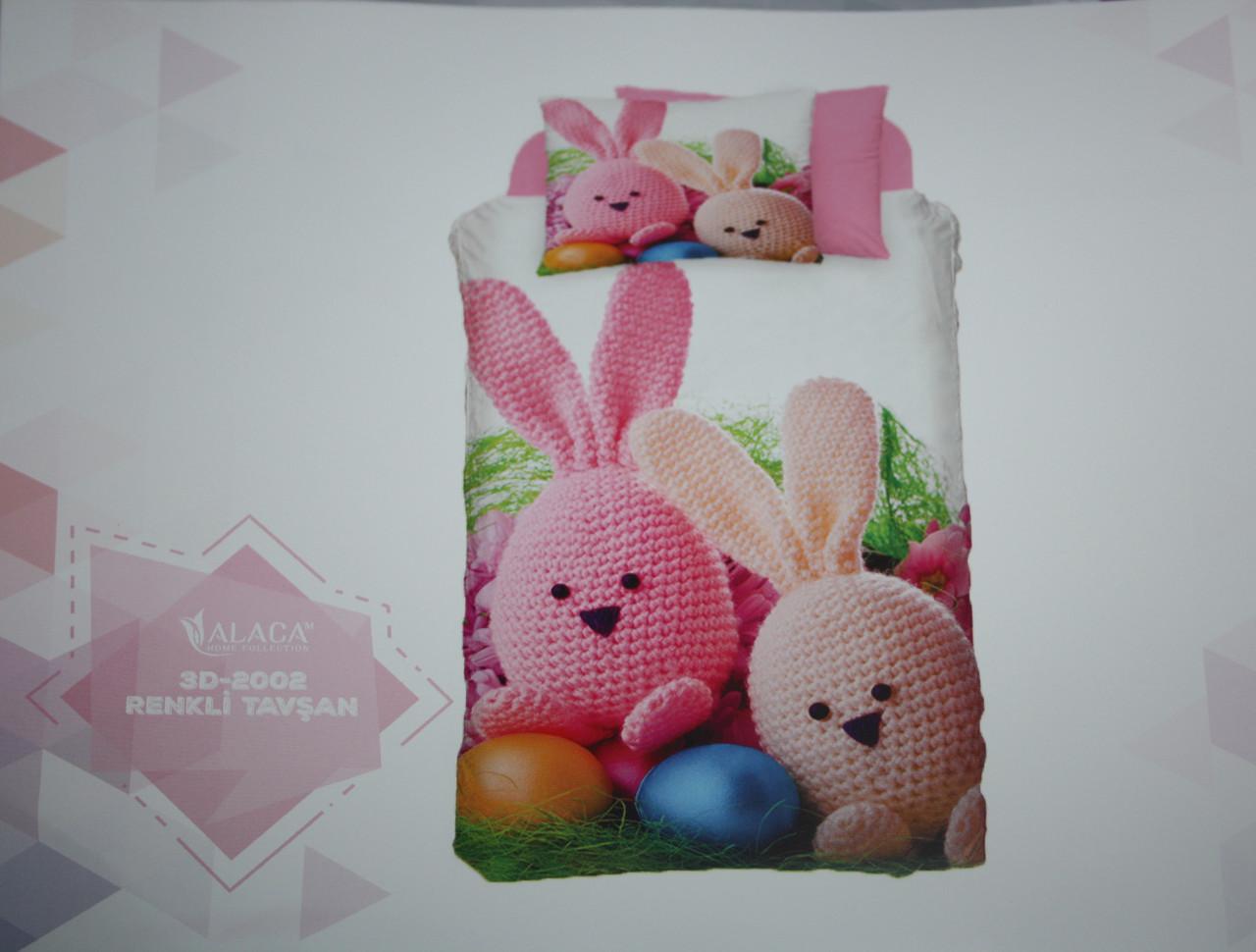 Детское постельное белье Alaca 3D Renkli Tavsan