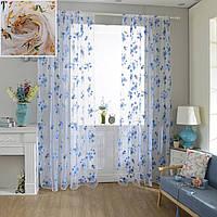 100x200cm цветы экрана окно эркер печати тюль занавес балкон спальня