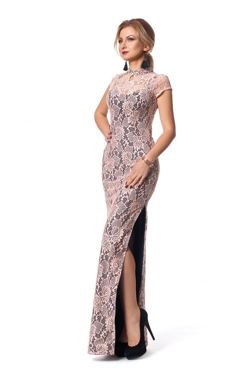 1fca859fc5c6ae5 Элегантное вечернее платье в нежно-розовом цвете от оптово ...